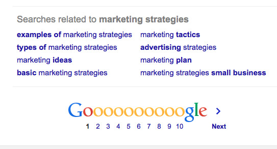 Online Marketing Weapons - Google Related Searches