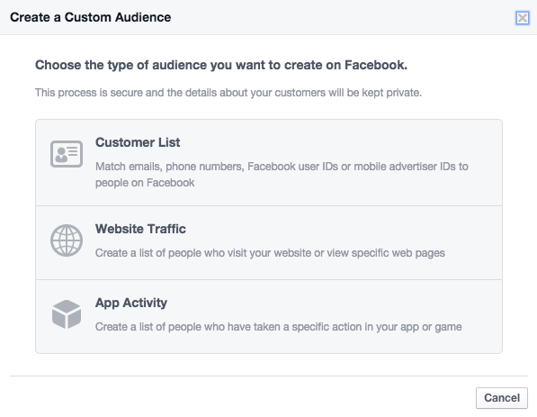 Facebook ad tips - Custom Audiences