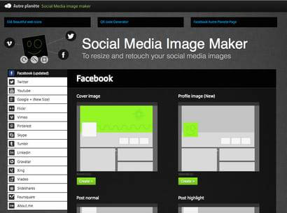 Social media marketing tools - Social media image maker