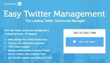 Top Twitter Tools - Commun.it