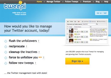 Top Twitter Tools - Tweepi