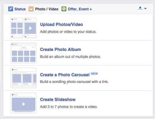 Facebook Carousel Format for Organic Posts