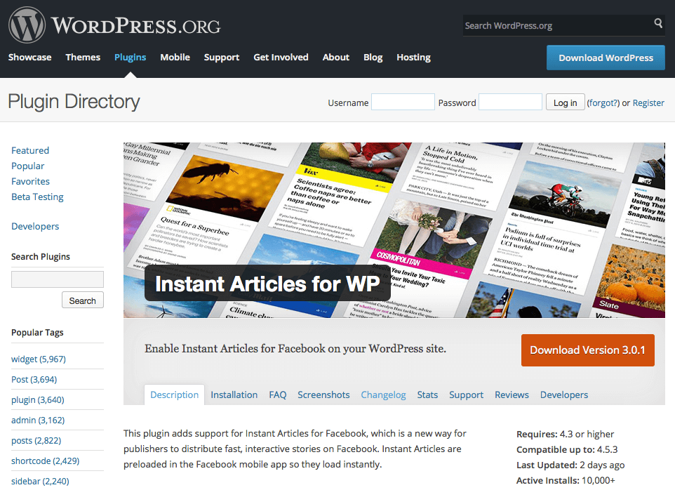 Instant Articles for WordPress plugin